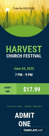 Harvest Church Ticket Template
