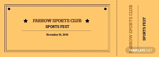Vintage Sports Ticket Template