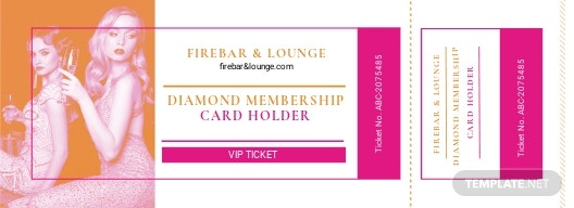 Vip Ticket Card Template