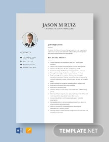 Channel Account Manager Resume Template