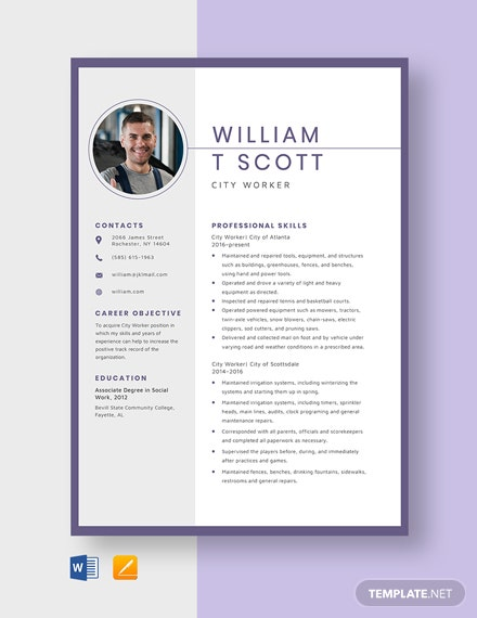 sheet metal worker resume template