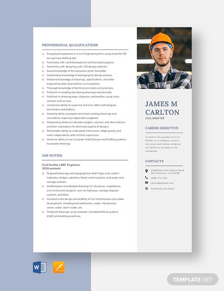 Civil Drafter Resume Template