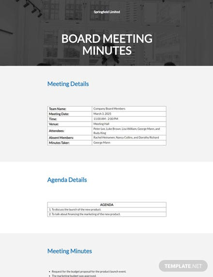 Meeting Minutes Template Pages from images.template.net