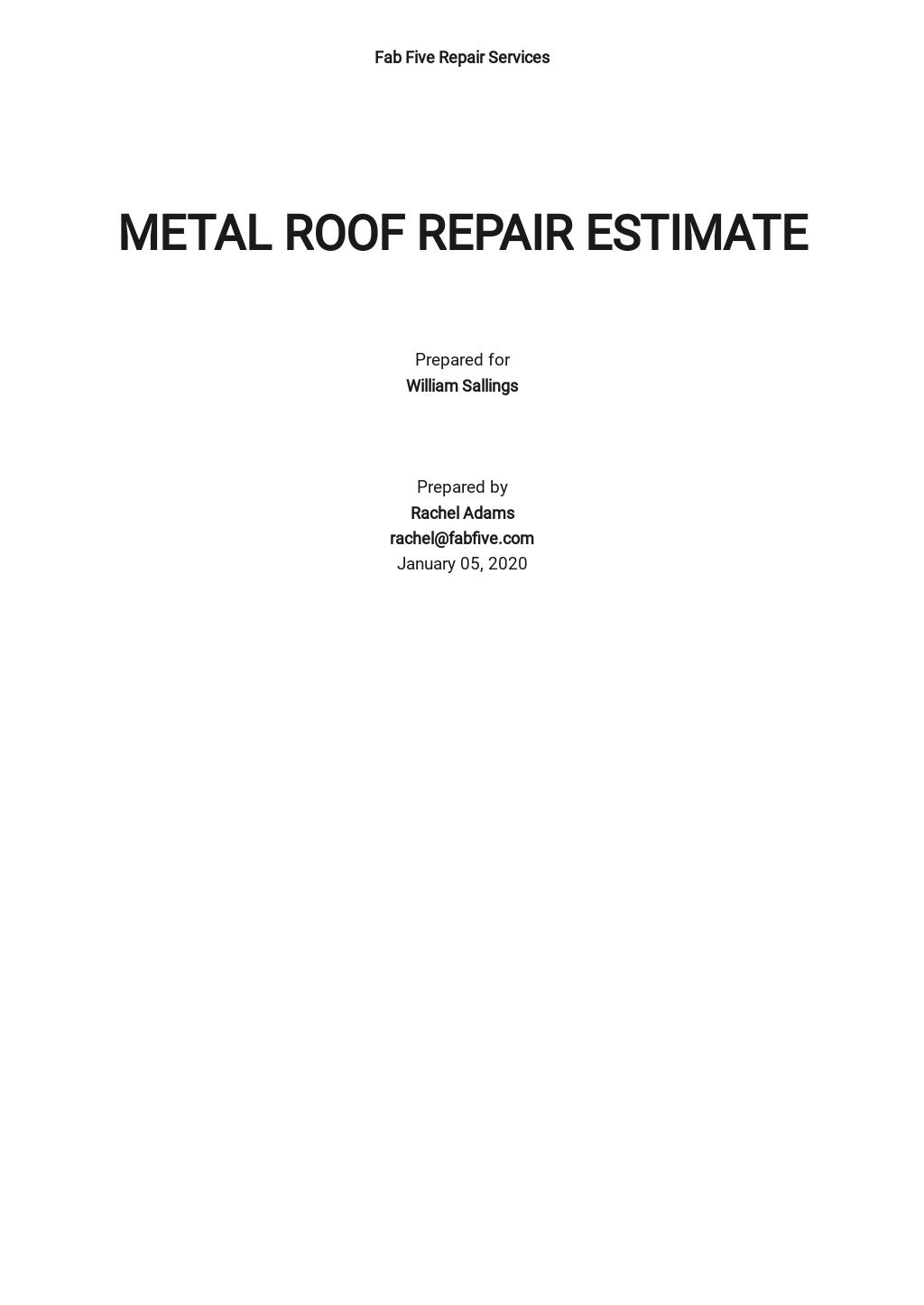 Free Roof Repair Estimate Template.jpe
