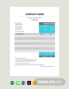 Free Taxi Quotation Template