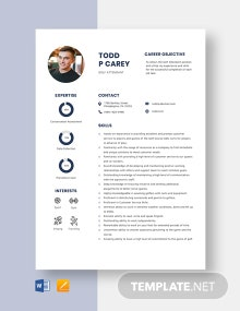 Golf Attendant Resume Template