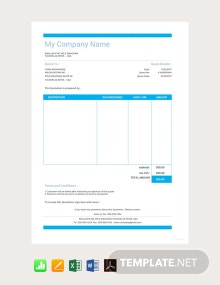 Free Sample Vehicle Quotation Template