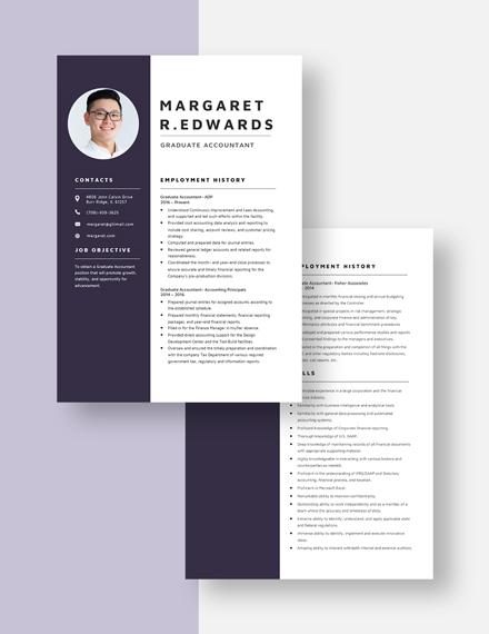 Graduate Accountant Resume  Download