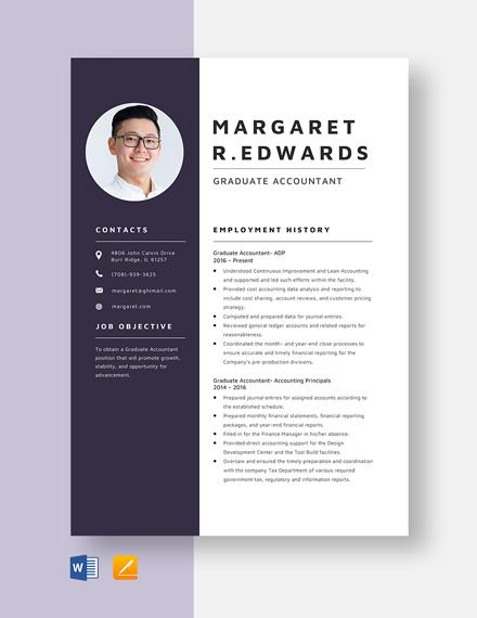 Graduate Accountant Resume