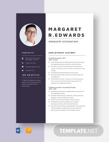 Graduate Accountant Resume Template