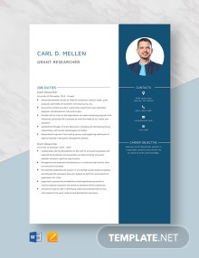Grant Researcher Resume Template