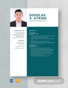 Green Building Consultant Resume Template