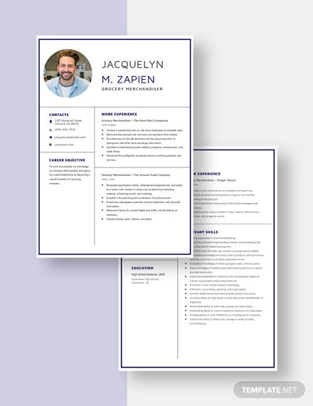 Grocery Merchandiser Resume  Download