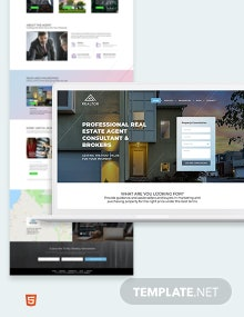 Real Estate Agent Realtor Bootstrap Landing Page Template