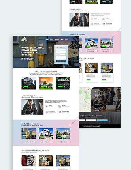 Realestate Agent Realtor Bootstrap Landing Pagen Download
