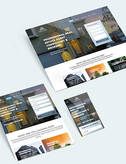 Sample Realestate Agent Realtor Bootstrap Landing Page