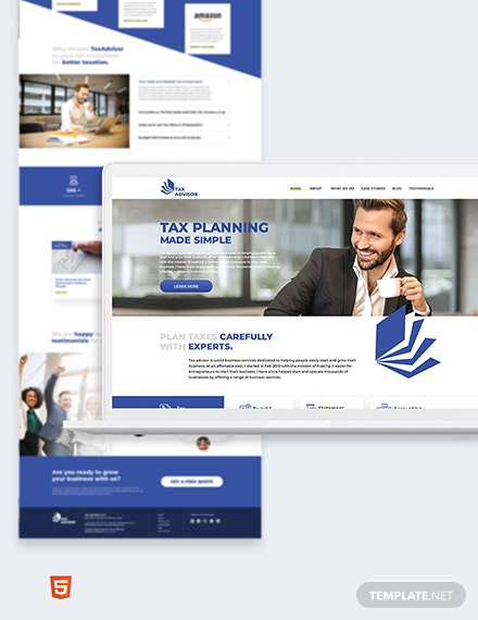 Tax Adviser Bootstrap Landing Page Template