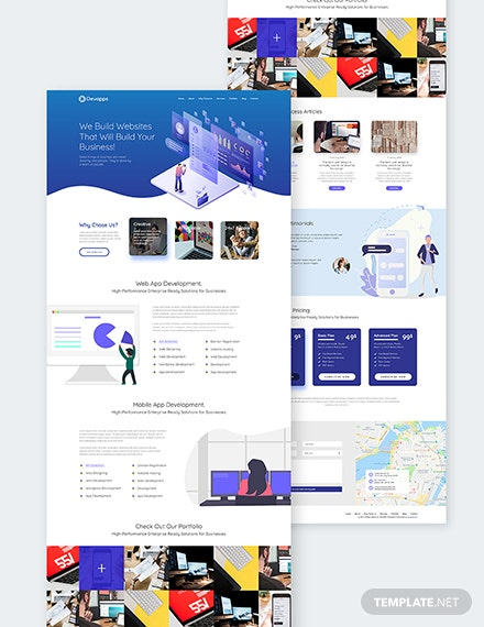Devapps Bootstrap Landing Page Template Download