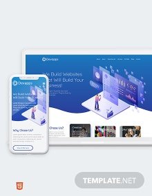 Devapps Bootstrap Landing Page Template