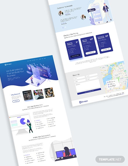 Sample Devapps Bootstrap Landing Page Template