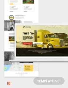 Moving Company Bootstrap Landing Page Template