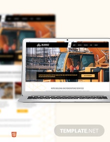 Construction Company Bootstrap Landing Page Template