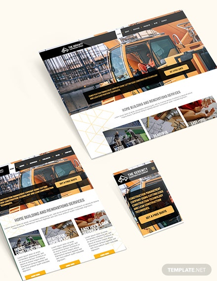 Sample Construction Company Bootstrap Landing Page