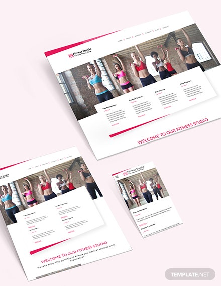 Sample Fitness Studio Bootstrap Landing Page