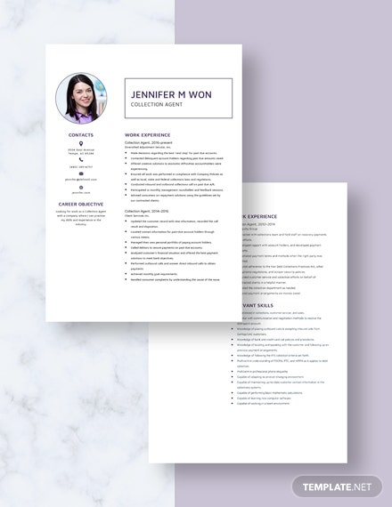Collection Agent Resume Download