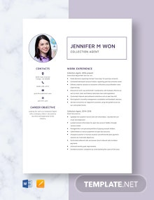 Collection Agent Resume Template