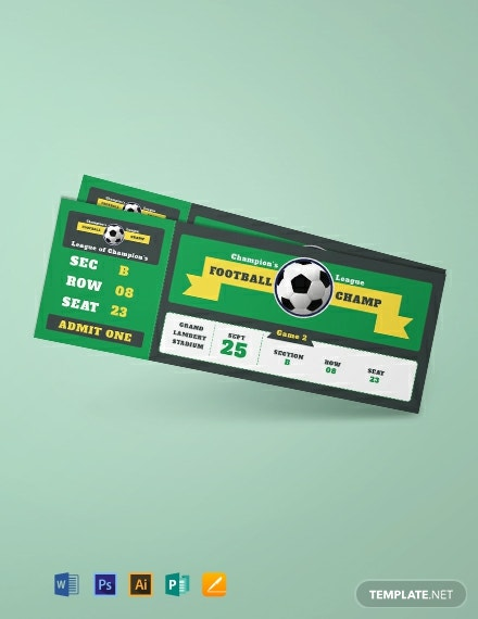 Sample Football Ticket Template
