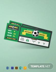 Free Sample Football Ticket Template