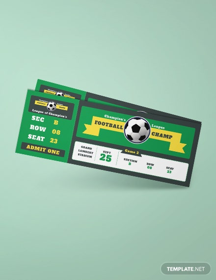 Sample Football Ticket Template