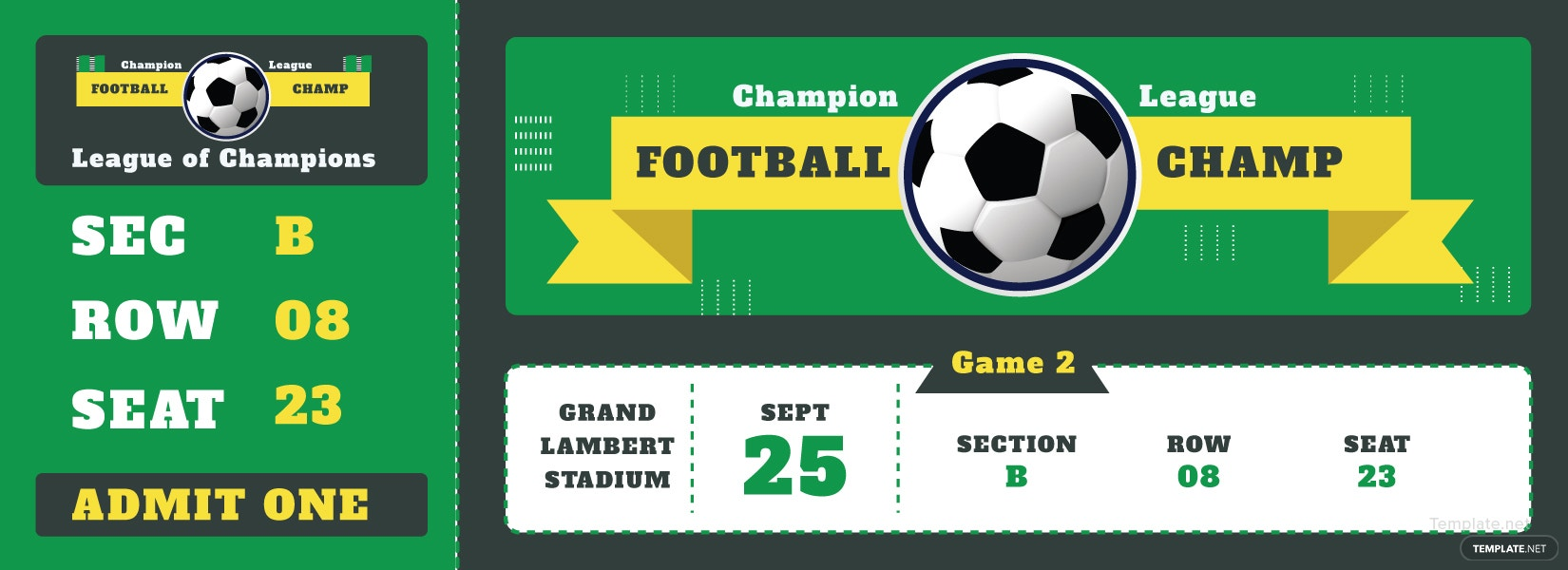 sample football ticket template in adobe illustrator photoshop microsoft word publisher. Black Bedroom Furniture Sets. Home Design Ideas