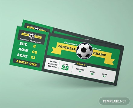 Sample football ticket template in adobe illustrator for Ticket template for mac