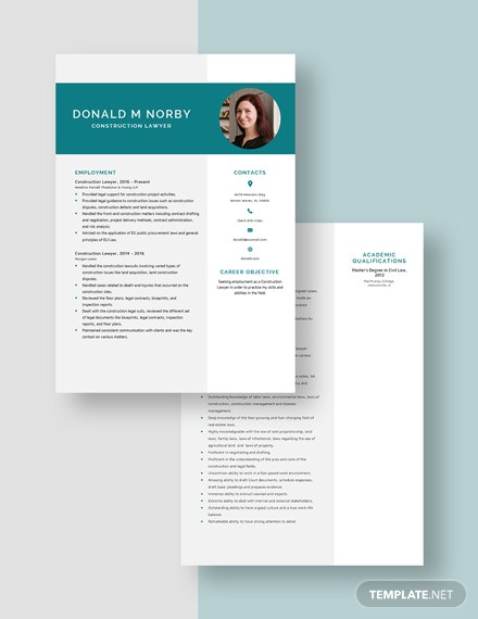 Construction Lawyer Resume Download