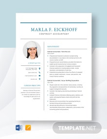 Contract Accountant Resume Template