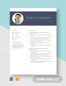 Contract Clinical Research Associate Resume Template