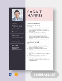 Contract Engineer Resume Template