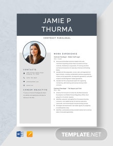 Contract Paralegal Resume Template