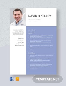 Contract Specialist Resume Template