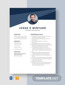 Contracting Officer Resume Template