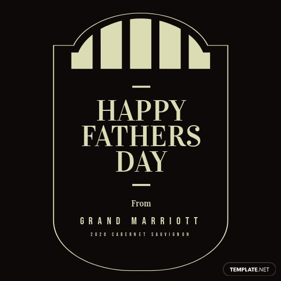 Father's Day Wine Label Template