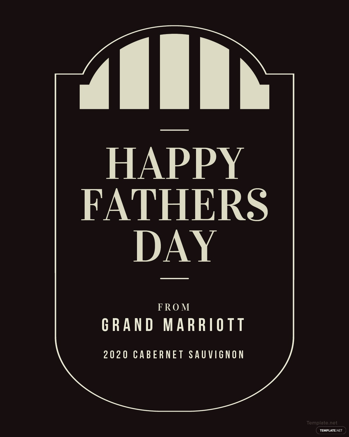 Free Fathers Day Wine Label Template In PSD, MS Word