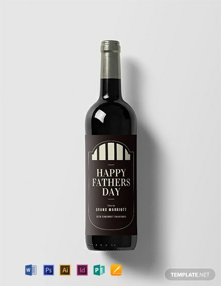 Free Father's Day Wine Label Template