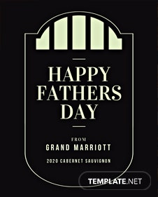 Free Fathers Day Wine Label Template