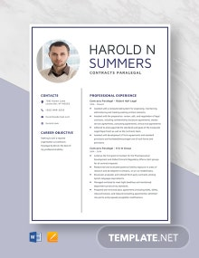 Contracts Paralegal Resume Template