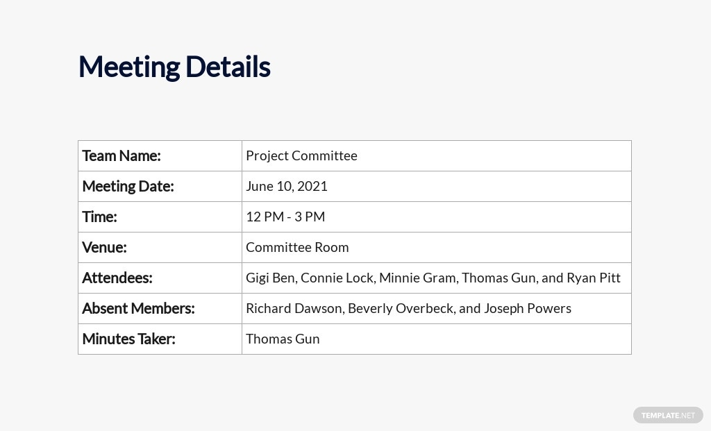 Free Project Meeting Minutes Template 1.jpe
