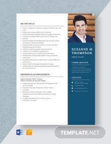 Hebrew Teacher Resume Template