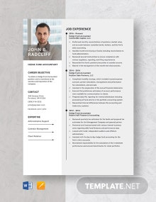 Hedge Fund Accountant Resume Template